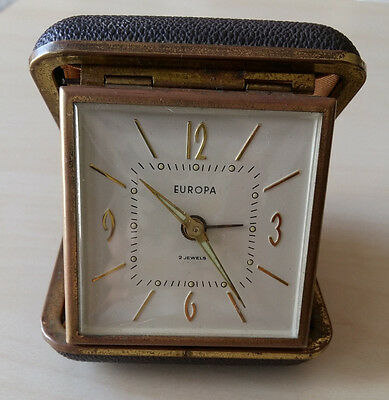 Reloj despertador vintage EUROPA 2 jewels antiguo