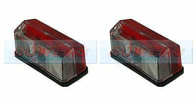 2x HELLA RED WHITE CLEAR SIDE MARKER LAMPS LIGHTS ELDDIS HYMER CARAVAN MOTORHOME
