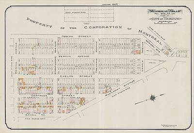 1913, Charles E. Goad, Canada, Corporation Of Montreal, Copy Plat Atlas Map