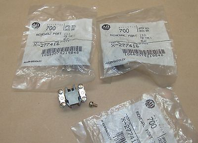 3 Lot NEW Allen Bradley X-277416 Upper Deck Cross Type C Relay 2 N.O.  AB