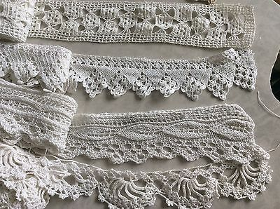9+ Yards Hand Made Vintage Crochet Lace Trim