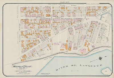 1913 Charles E. Goad Montreal, Canada, British American Dying Co. Copy Atlas Map