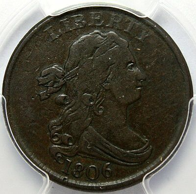 1806 Draped Bust Half Cent * PCGS VF20 * Small 6, No Stems * Excellent Coin