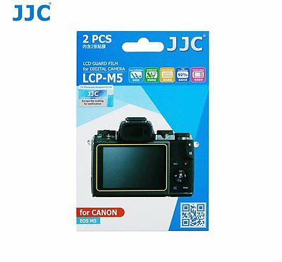 JJC LCP-M5 LCD Screen Protector Protection Guard Film for Canon EOS M5 camera