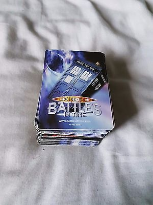 Doctor Who Battle In Time Trading Cards 100+ Cards