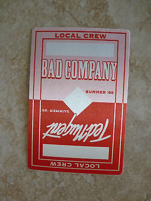 Ted Nugent Bad Company 1995 Tour Concert Local Crew Backstage Pass Sticker