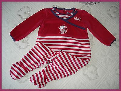 Pyjama velours SERGENT MAJOR 9 mois