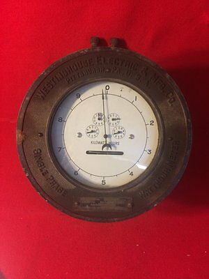 Antique/vintage Westinghouse Electric & mfg. Co. Pittsburgh. Single Phase meter.