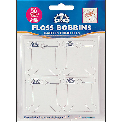 Dmc Floss Bobbins Pack Of 56 Ideal For Storing Cottons - 6101 - Free Uk P&p