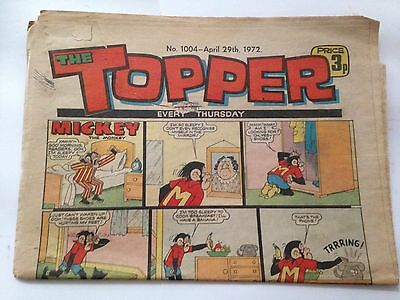 DC Thompson THE TOPPER Comic. Issue 1004. April 29th 1972 **FREE UK POSTAGE**