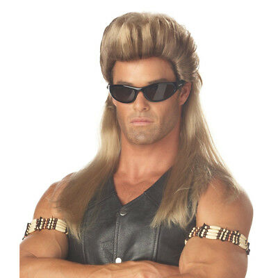 Bounty Hunter Mullet Wig Dog The Bail Enforcer TV Show 80s Mullet Adult Costume