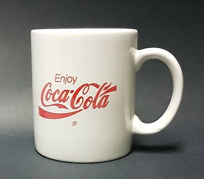 Red on White Enjoy Coca Cola Coffee Mug/Cup -10 oz (296 ml)