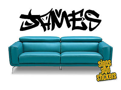 Personalised Graffiti wall art name sticker decal any name kids bedroom 1  sc 1 st  PicClick UK & PERSONALISED GRAFFITI NAME WALL ART DECAL sticker boys GIRLS BEDROOM ...