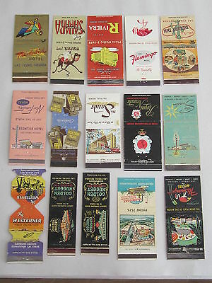 Lot of 15 Older Casino Match Book Covers / FREE Shipping