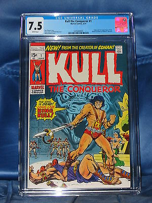 Kull The Conqueror #1 Cgc 7.5 Key Issue Marvel Comics 1971 No Reserve White Page