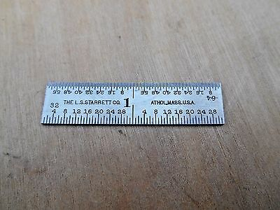 "Starrett 2"" Rule ,  No. 604R"