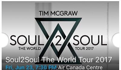 Tim McGraw & Faith Hill 2 Tickets 06/23/17 (Toronto) Price Is For Both