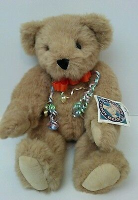 """Vermont Teddy Bear Co. Light Brown Jointed Teddy Bear 16"""" Plush Authentic NWT"""