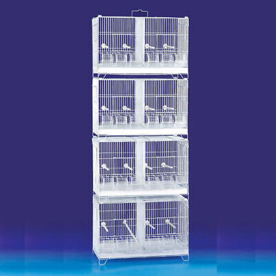 Set of 4 Stackable Breeding Bird Cage for Canary Finch Small Birds
