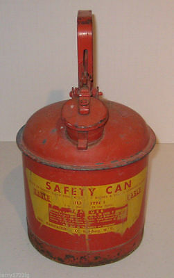 Eagle Type-1 Safety Can U1-10, Metal Red w/ Mechanical Spout, 1 Gallon Gas
