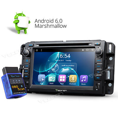 """Bluetooth OBD-II+ 7"""" Android 6.0 Car DVD Player Radio GPS 3G F for Chevrolet GMC"""