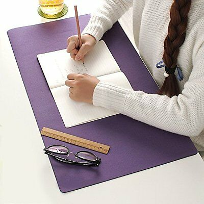 Desk Pad & Protector Mouse Pad for desktops and laptops,24''x13'' (Dark Purple)