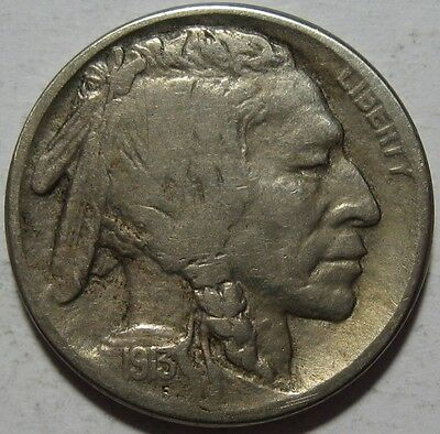 = 1913-S VF+ Type 2 BUFFALO Nickel, Super Details, T2, FREE Shipping