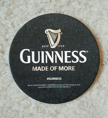Guinness Beer bar coaster Made of More harp signature logo fiber 3.5""