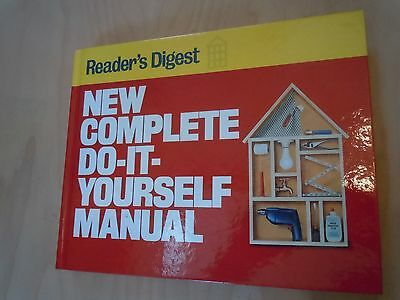 """READERS DIGEST """"NEW COMPLETE DO-IT-YOURSELF MANUAL"""" 1991 Hardcover Book"""
