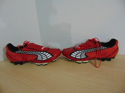 Soccer Shoes Cleats Mens Size 8  Puma V2.10 Red Black