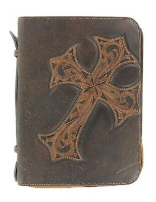 M&F Western Bible Cover Case Cross Marble Brown 0653002