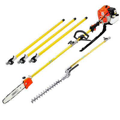 75cc Petrol Long Reach Pole Chainsaw Hedge Trimmer Pruner Cutter Chain Saw tree