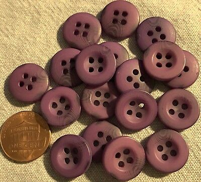 """18 New Purple With Translucent Swirl Plastic Buttons 5/8"""" 15.5MM Lot # 204"""