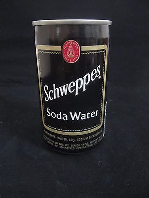 Schweppes  soda water  : a 330 ml  empty  can, israel ,  late 80's.