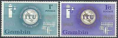 Timbres Communications UIT Gambie 203/4 ** lot 19745
