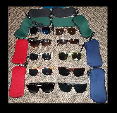 Lot of 10 NEW Sunglasses with 10 Zip cases/Pouches Wholesale MAKE OFFER -Bundle