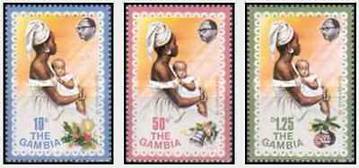 Timbres Religion Noel Gambie 327/9 ** lot 19752
