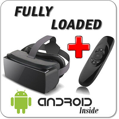 Virtual Reality VR Box Headset Black Android SPMC fully LOAD Adult C120 Remote