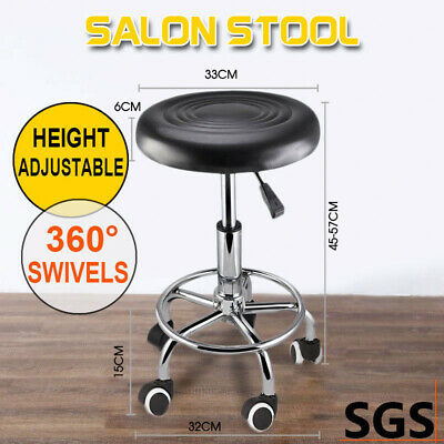Salon Stool Hairdressing Barber Chair Beauty Swivel PU Equipment Lift SGS Black