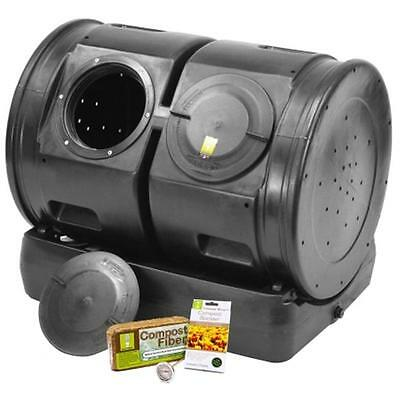 Good Ideas CW-2XS007-BLK Compost Wizard Dueling Tumbler Starter Kit, Black