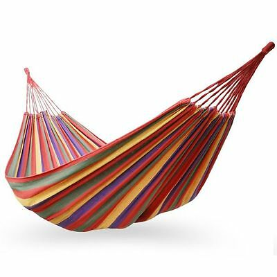 Portable Cotton Rope Outdoor Swing Fabric Camping Hanging Hammocks Canvas Bed