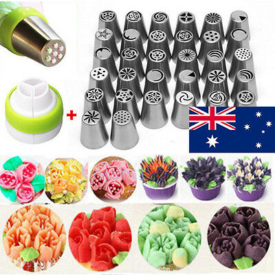 NEW 7/9/15/24/32 DIY Russian Icing Piping Nozzle Cake Flower Decor Tips Tools AU