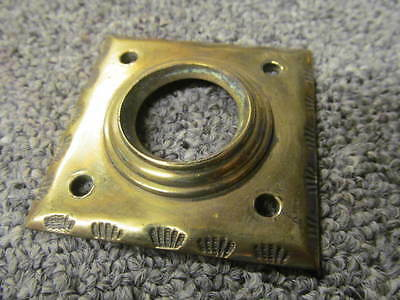 Vintage Brass Door Knob Backplate  56 x56 mm diam - 22 mm hole      -AF106b-