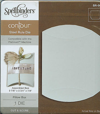 SPELLBINDERS CONTOUR STEEL RULE DIE BOX CUTTING DIE Pillow Box SR009
