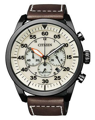 Citizen Eco-Drive Solar Herrenuhr Chronograph CA4215-04W / 10bar NEU