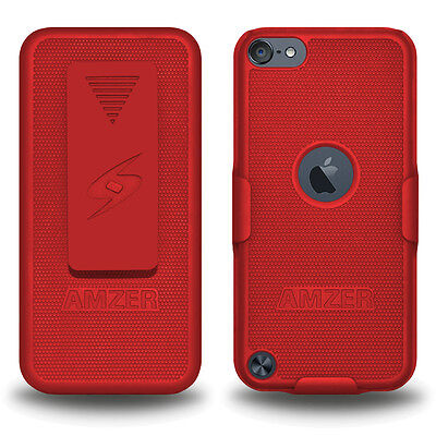 Amzer Shellster - Red For Apple iPod Touch 6th Gen 5th Gen