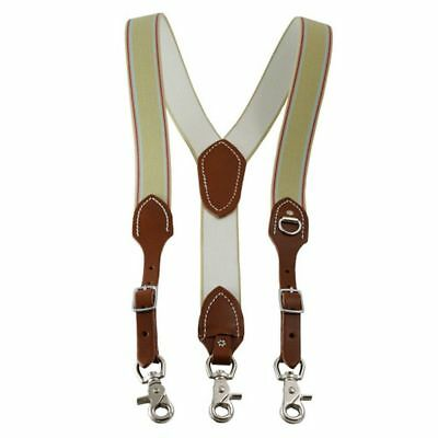 Outfitters Supply Suspenders Mens Scissor Straps Brown WSUSP101