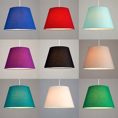 Fabric Ceiling Pendant Table or Floor Lamp Light Shade Shades Lampshades 2 Sizes