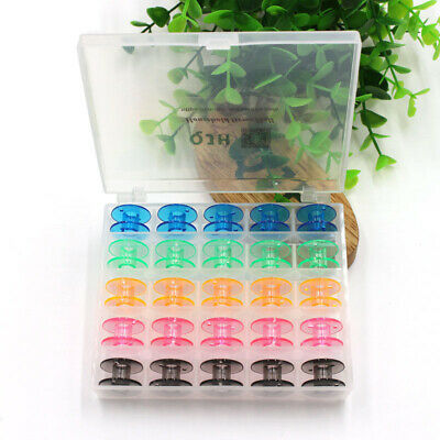 25pcs Empty Colorful Plastic Sewing Machine Bobbins Spools Brother Babylock Sing