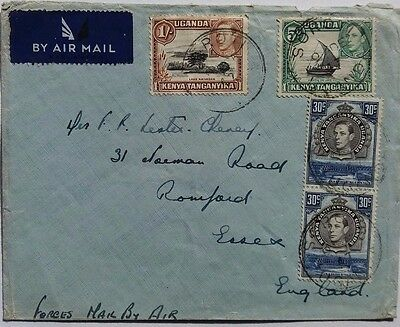 Uganda 1947 Forces Airmail Cover From Royal Air Force From Soroti
